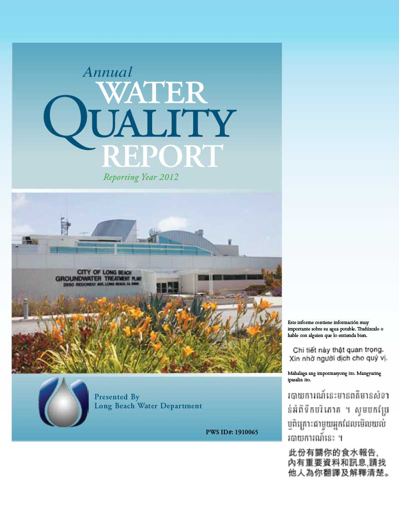 Water Quality Report Long Beach Water Department
