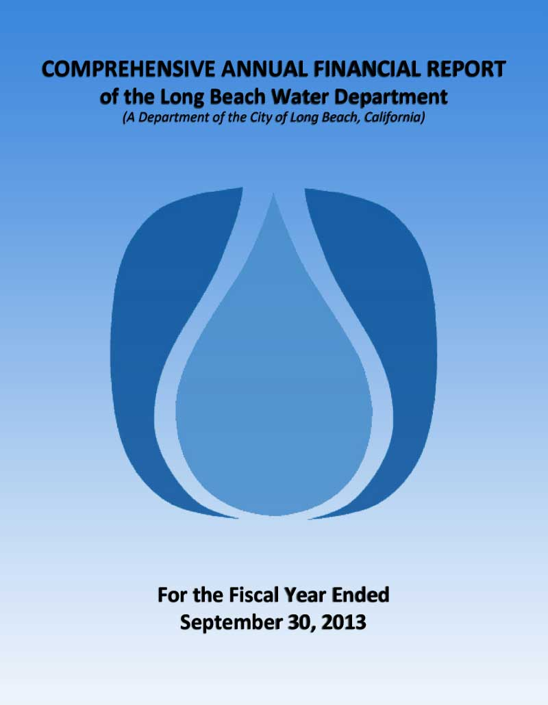 FY 2013 - LBWD Comprehensive Annual Financial Report